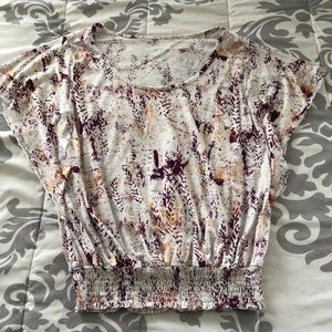 Mudd Tops - Rose gold & plum top